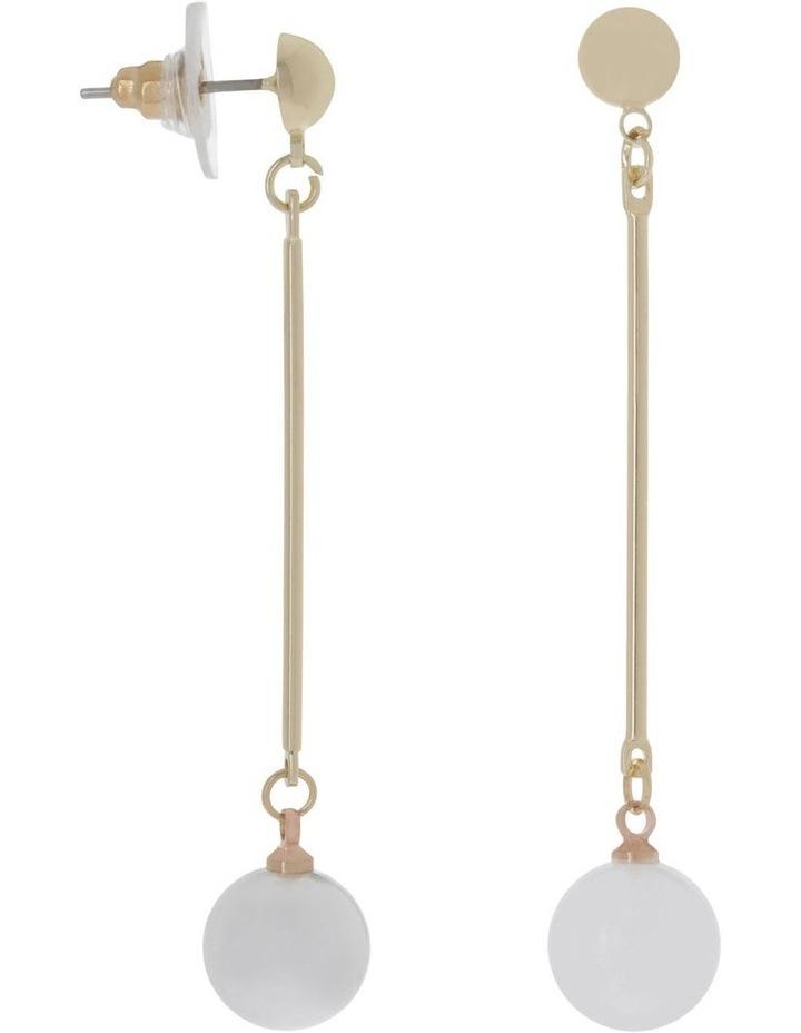Glass Pearl Drop Earring image 2