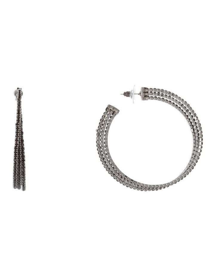 Triple Hoop Pave Earring image 1