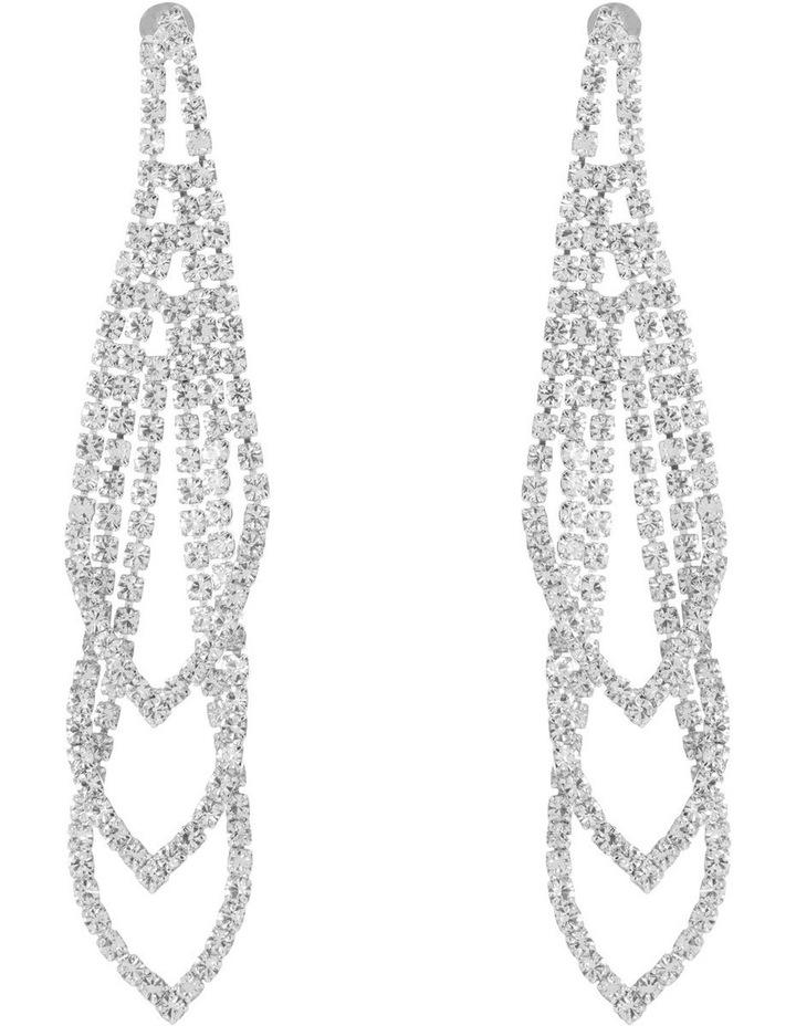 Loop Crystal Drop Earring image 1