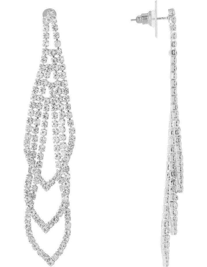 Loop Crystal Drop Earring image 2