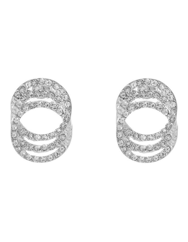Triple Circle Pave Stud image 1