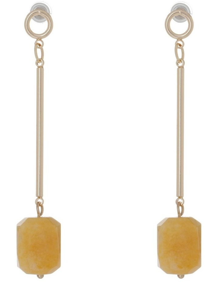 Stone Set Drop Earring image 1