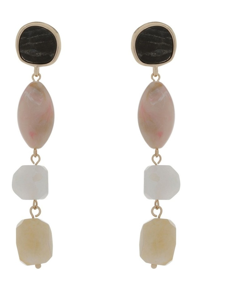 Stone Set Statement Drop Earring image 1