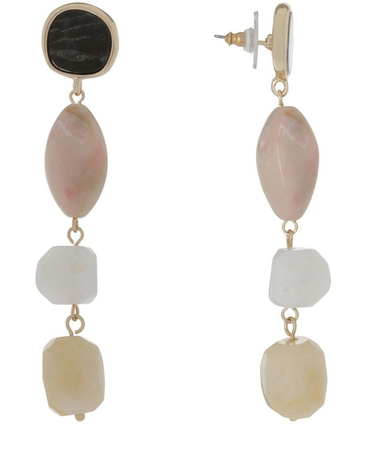 Stone Set Statement Drop Earring image 2