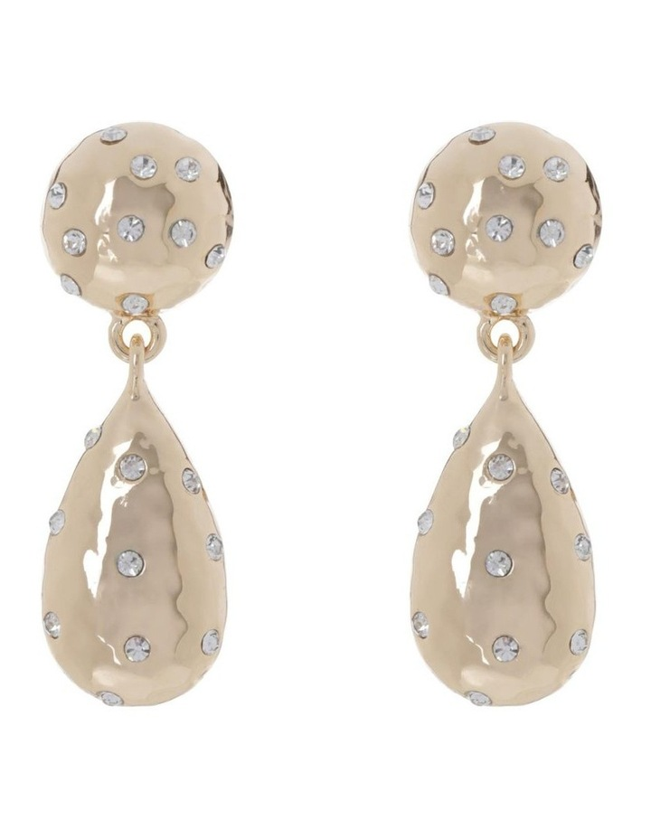 Hammered Sparkle Drop Earring image 1