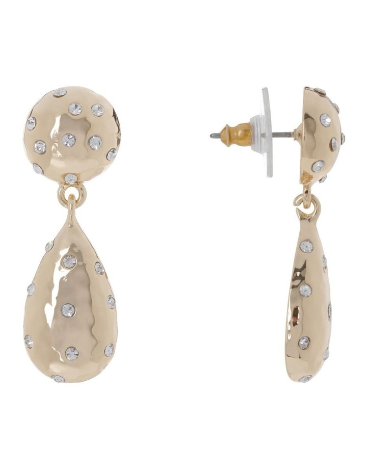 Hammered Sparkle Drop Earring image 2