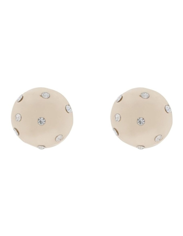 Hammered Sparkle Stud Earring image 1