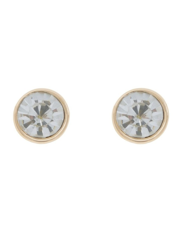 CZ Stud Earring - Clear image 1