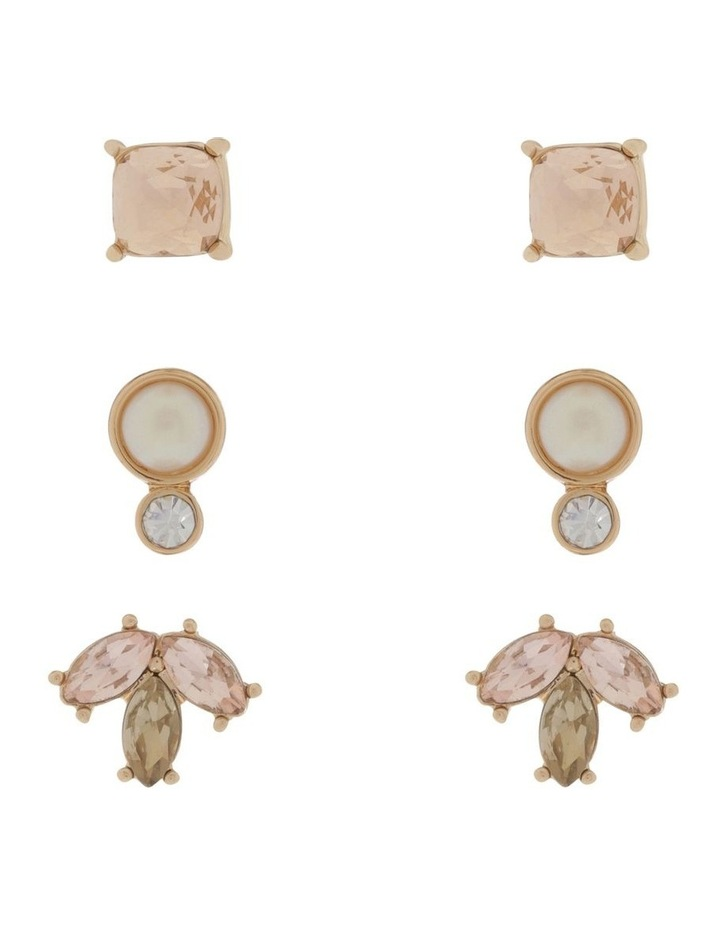 3 Pack Crystal Earring Set image 1