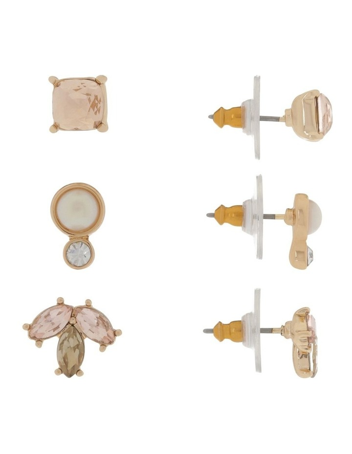 3 Pack Crystal Earring Set image 2