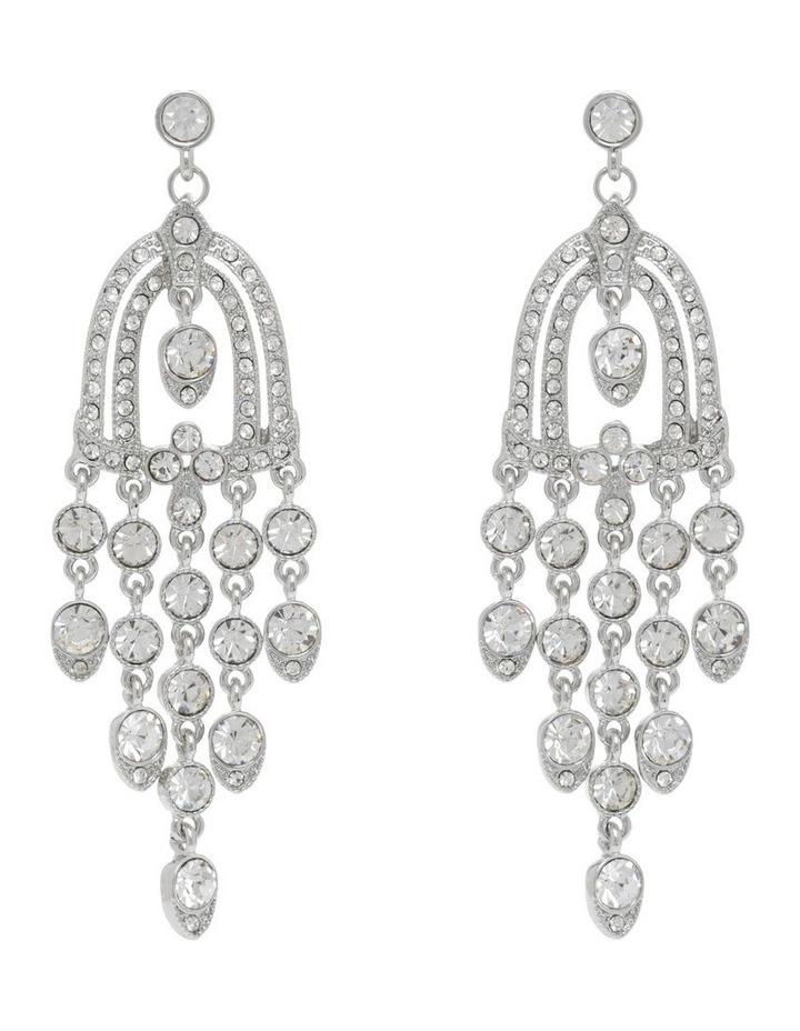 Statement Crystal Chandelier Earring image 1