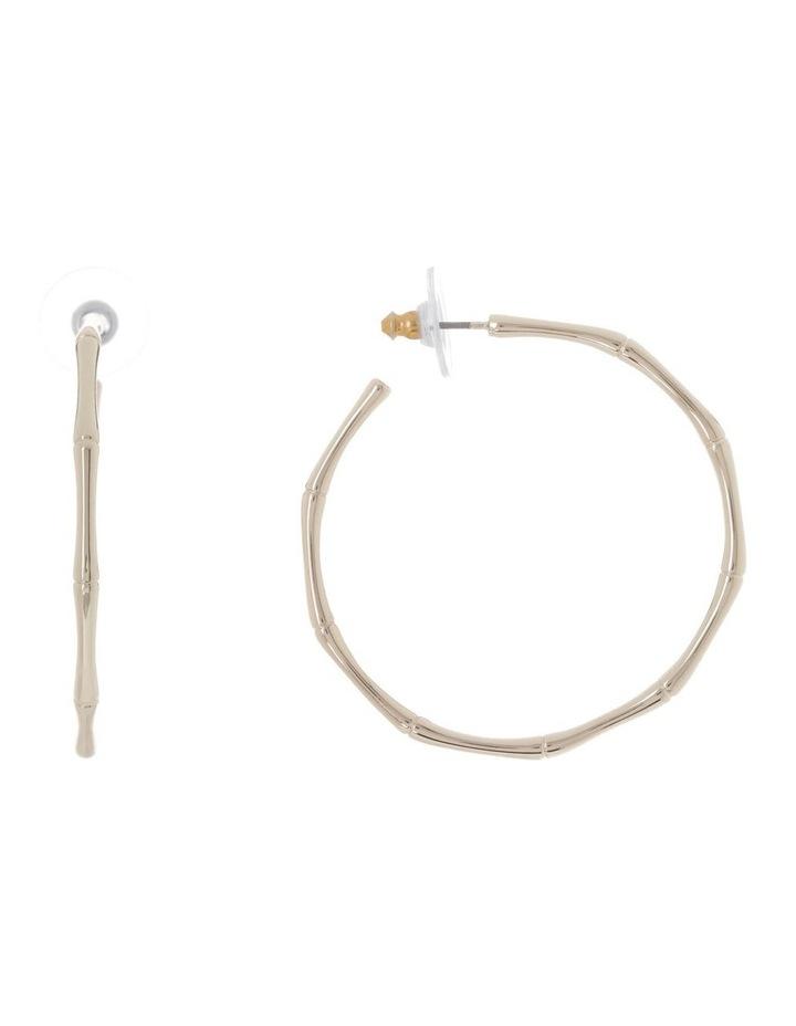 Bamboo Hoop Earring image 1