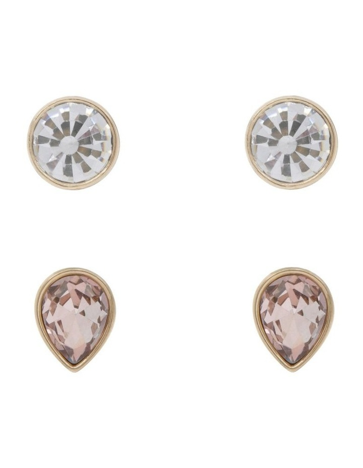 Crystal Stud Earrings - Set of 2 image 1