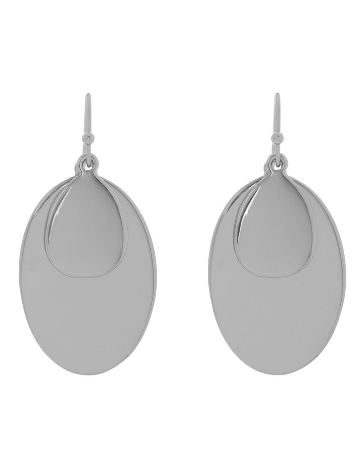 Double Oval Metal Hook Earring image 1