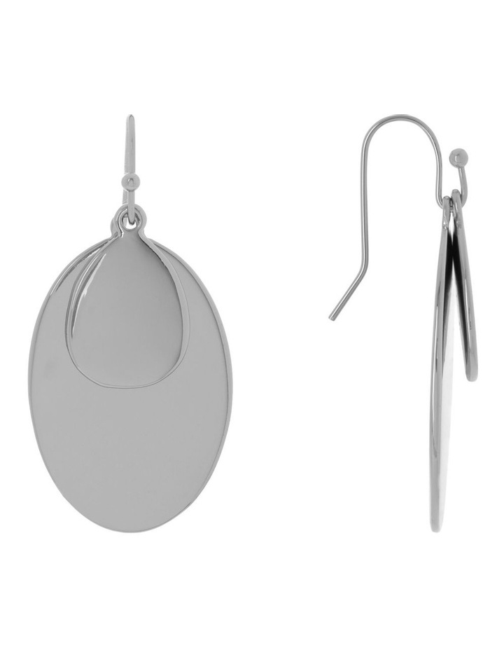 Double Oval Metal Hook Earring image 2