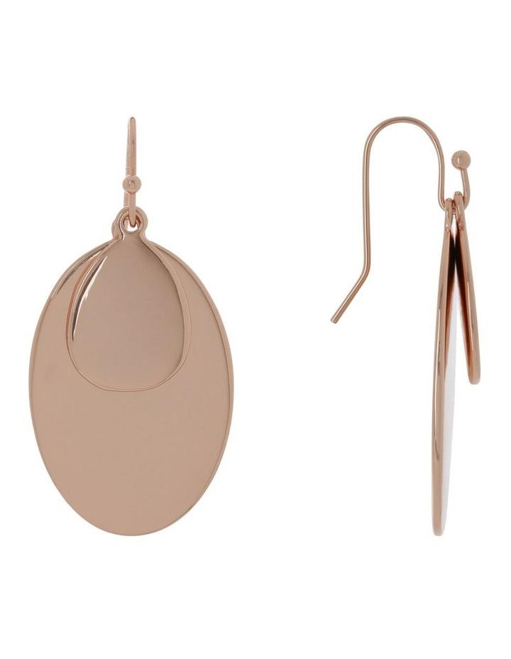 Double Oval Metal Hook Earring image 2