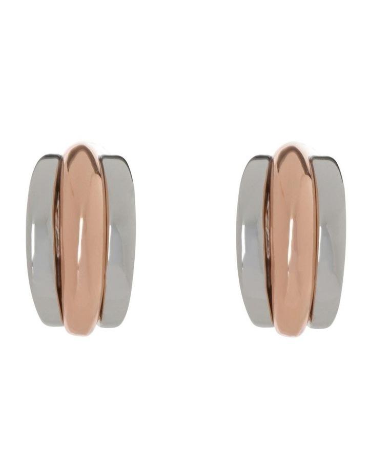 Multi Ridge Stud Earring image 1