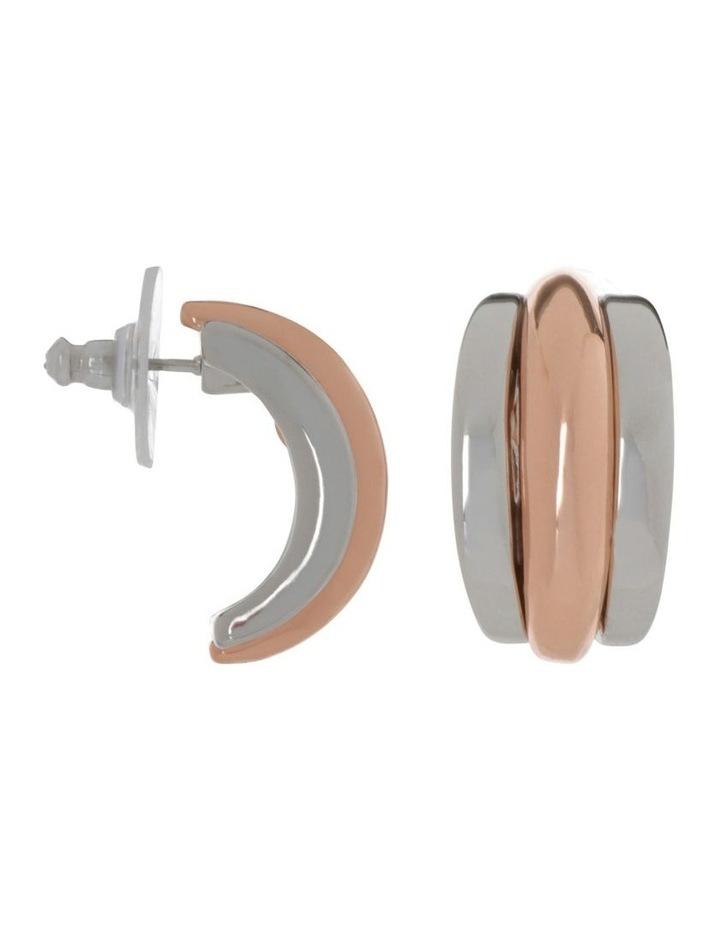 Multi Ridge Stud Earring image 2