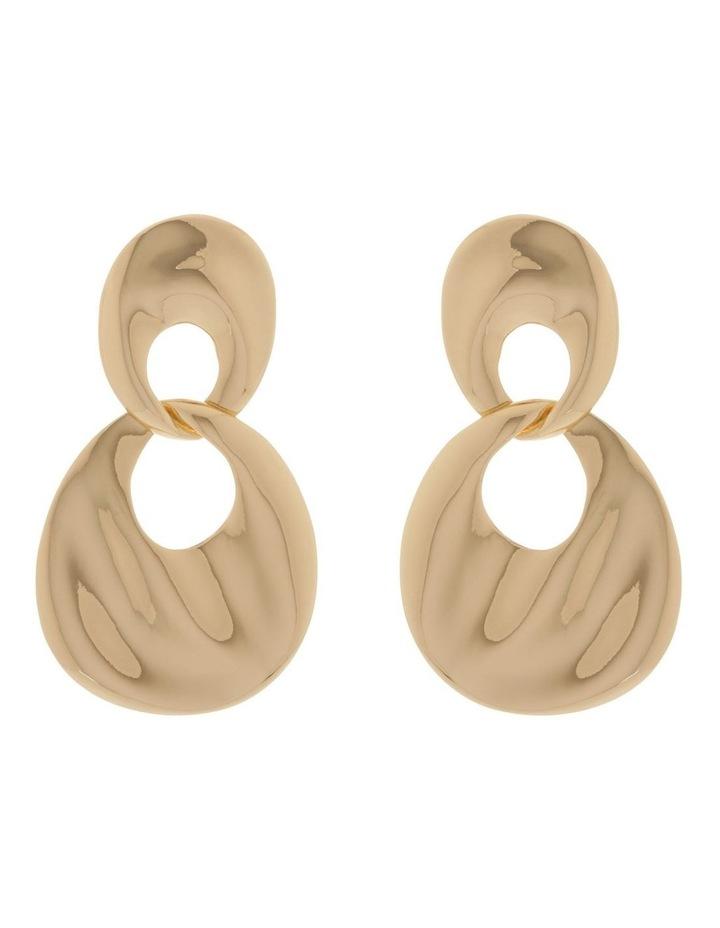 Oval Double Drop Retro Earring image 1