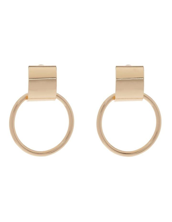 Gold Metal Front Facing Hoop image 1