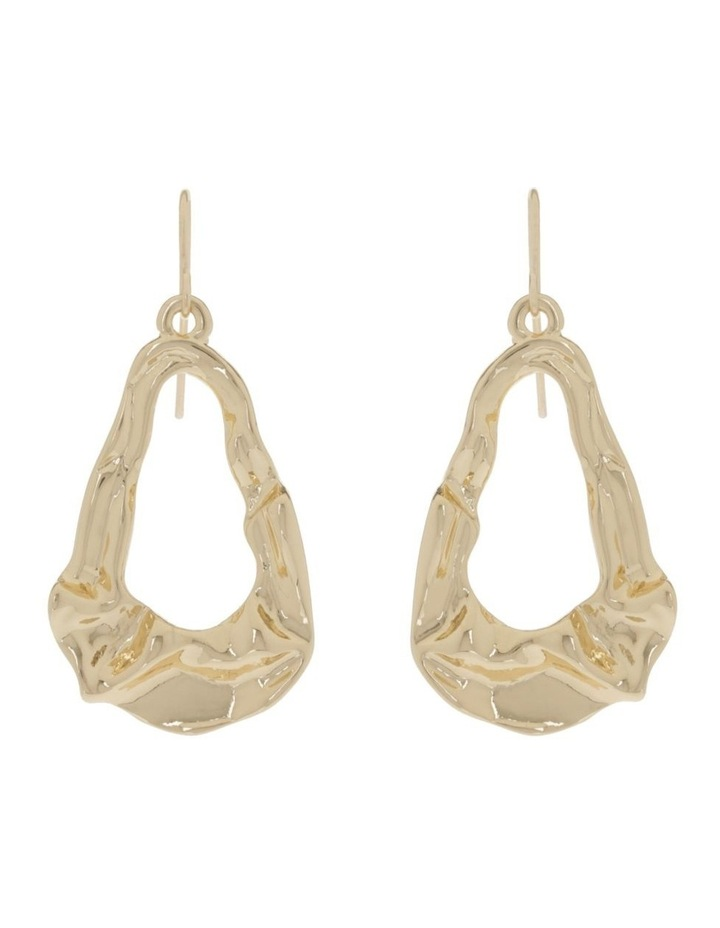 Abstract Earring Gold image 1