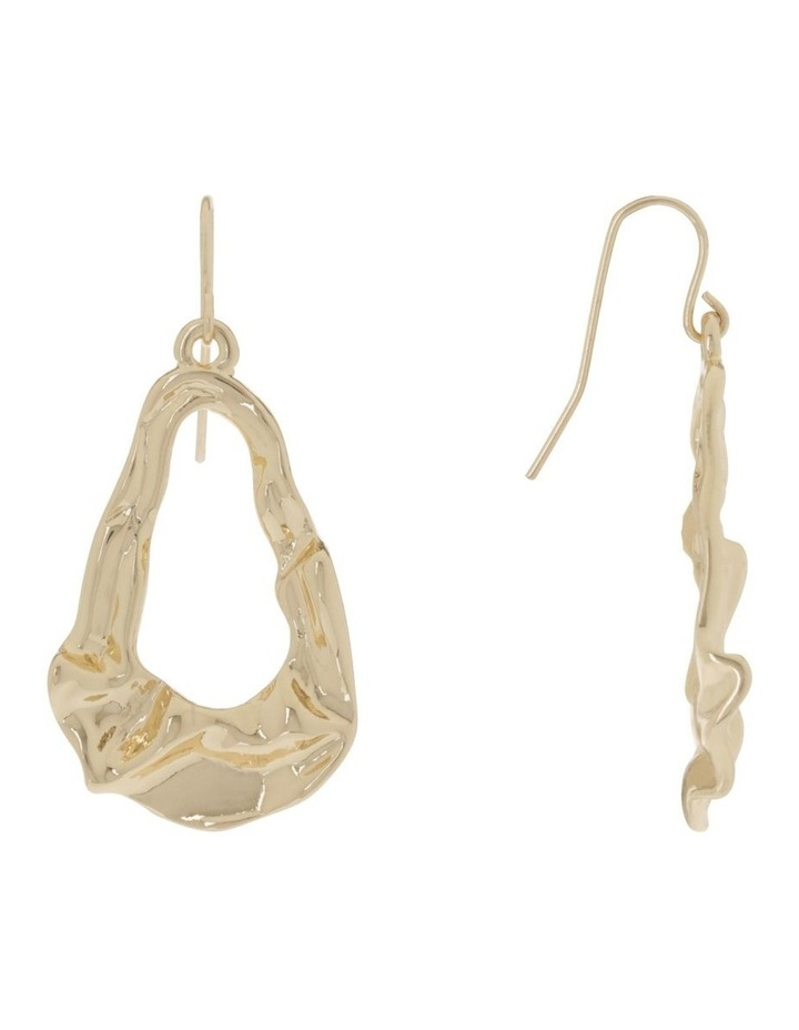 Abstract Earring Gold image 2