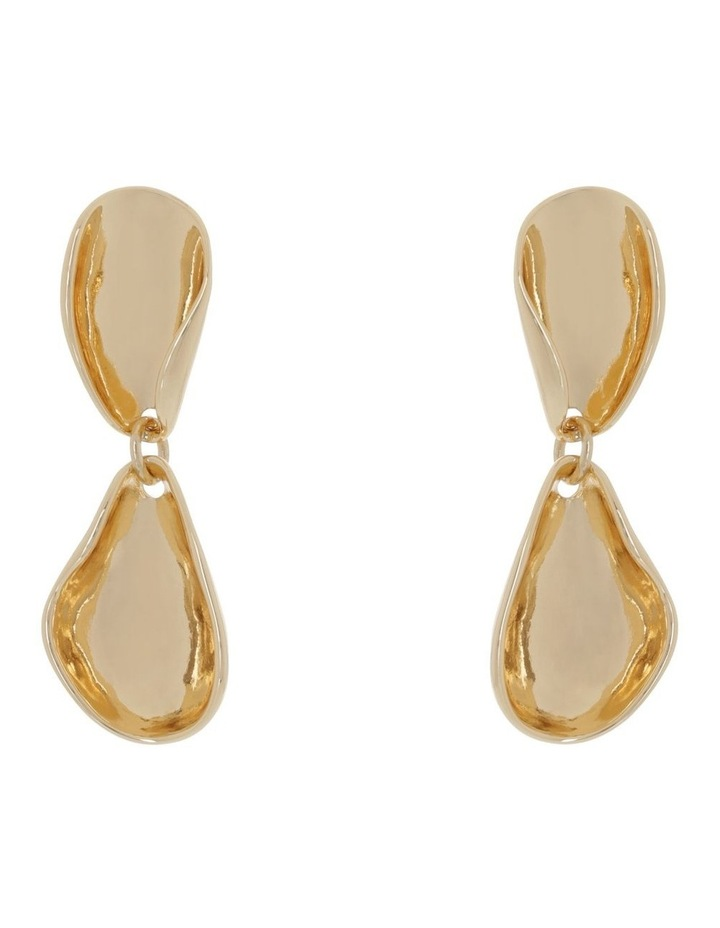 Curved Shape Drop Gold image 1