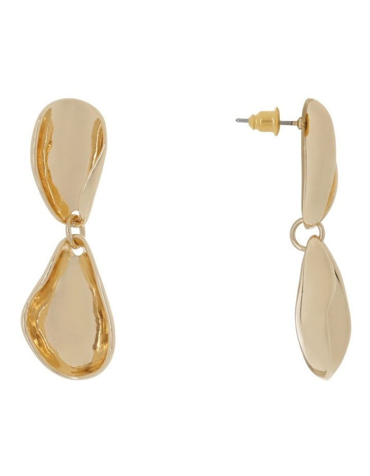 Curved Shape Drop Gold image 2
