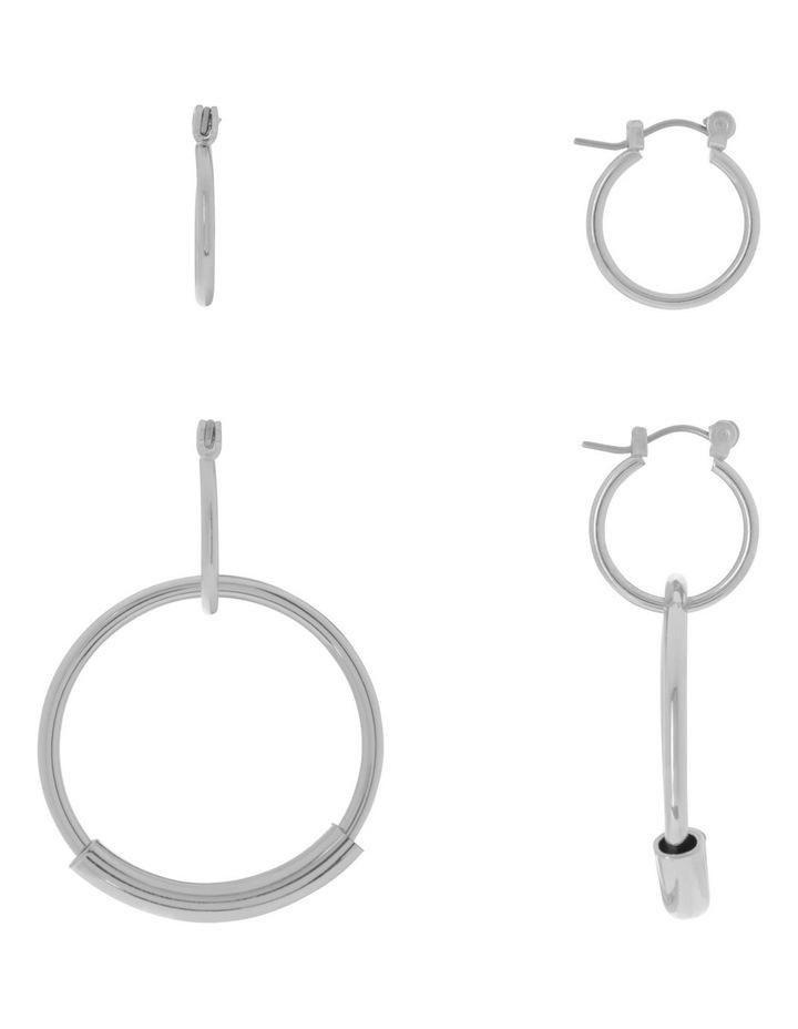 Hoop With Bar Multi Wear Silver image 1