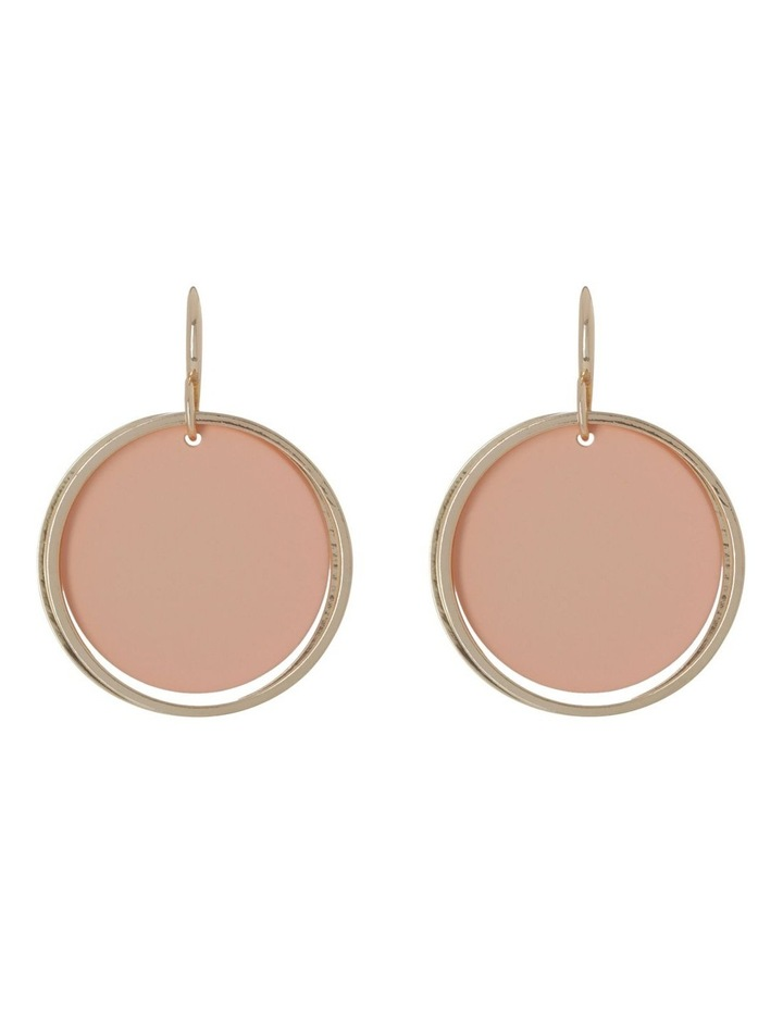 Pendant Hoop Earrings Blush image 1