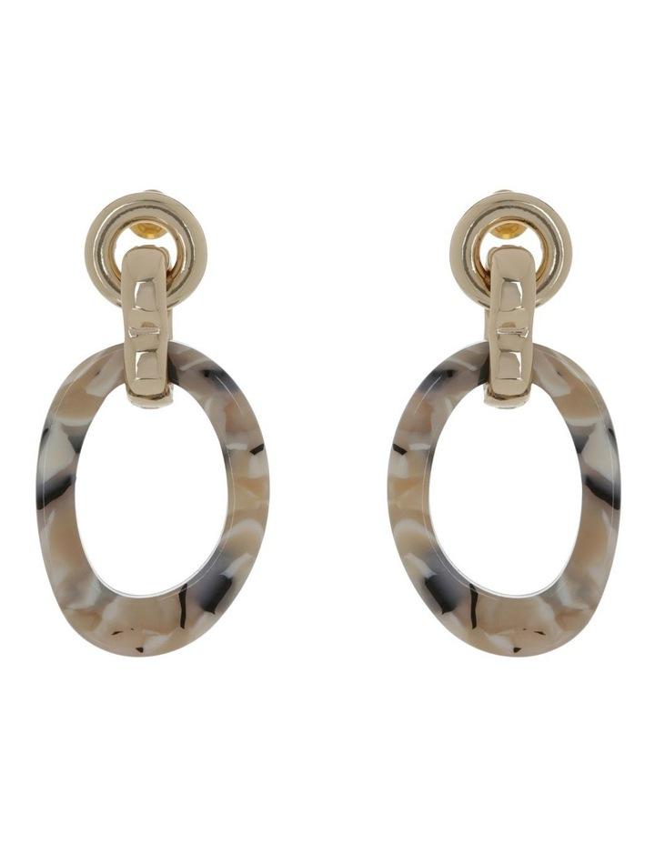 Organic Resin Earring Gold image 1