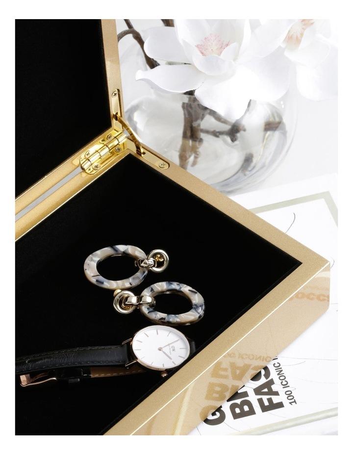 Organic Resin Earring Gold image 3