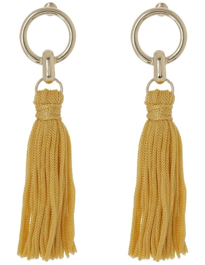 Tassel Earrings Gold Ginger image 1