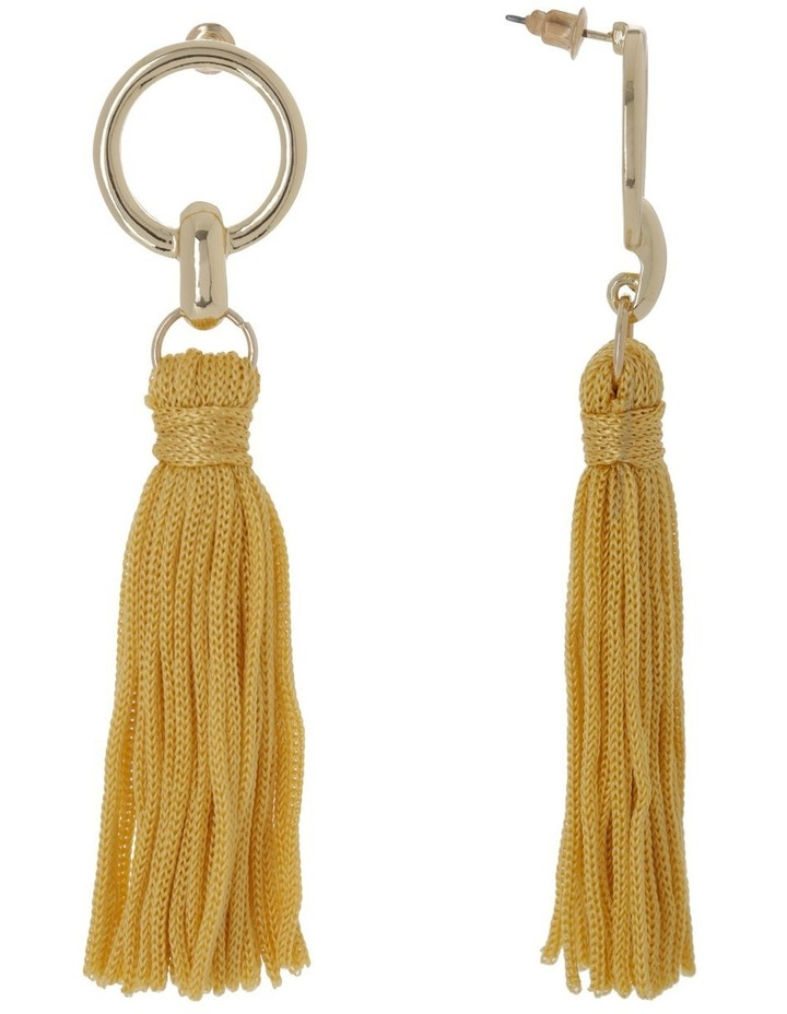 Tassel Earrings Gold Ginger image 2
