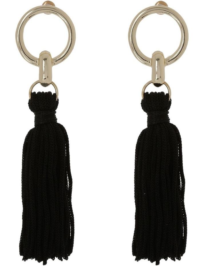 Tassel Earrings Black image 1