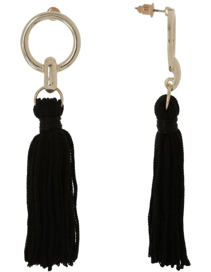 Tassel Earrings Black image 2
