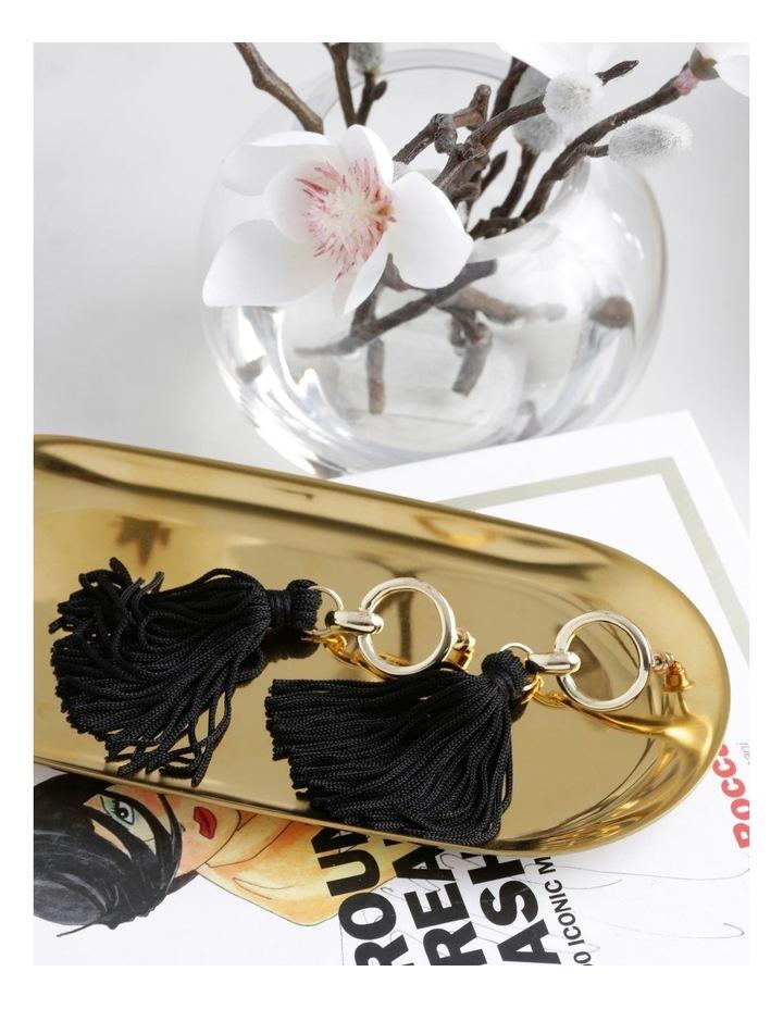 Tassel Earrings Black image 3