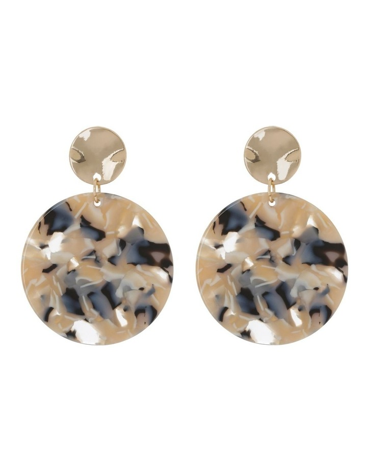 Disc Drop Earrings Milky image 1
