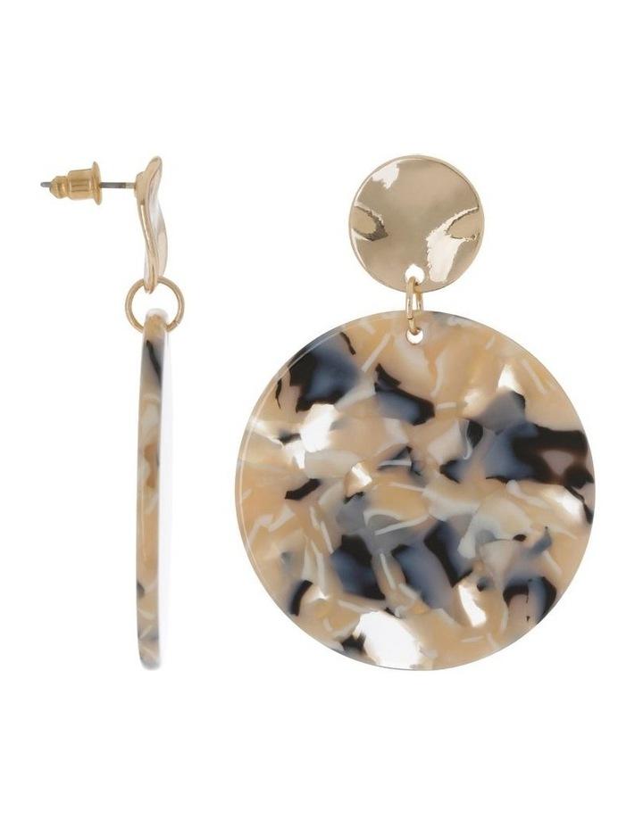 Disc Drop Earrings Milky image 2