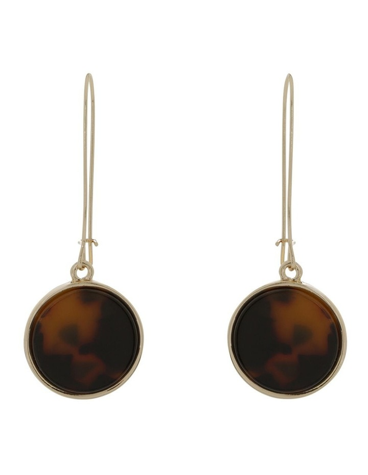 Marble Look Earring Gold Tort image 1