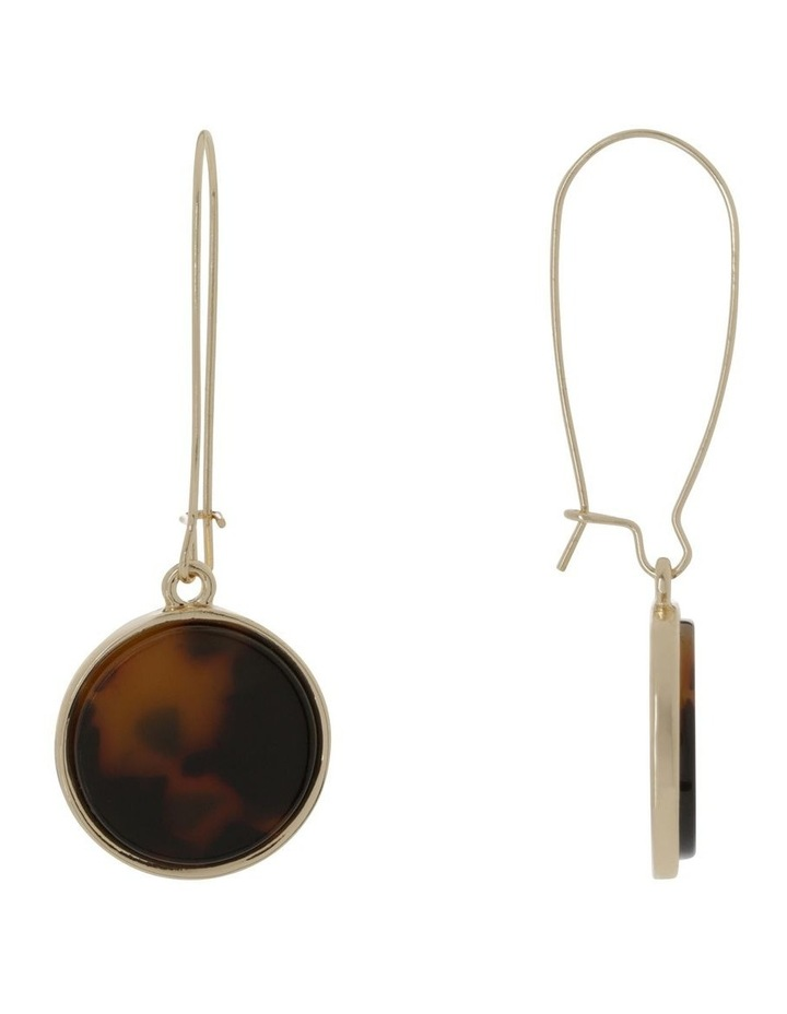 Marble Look Earring Gold Tort image 2