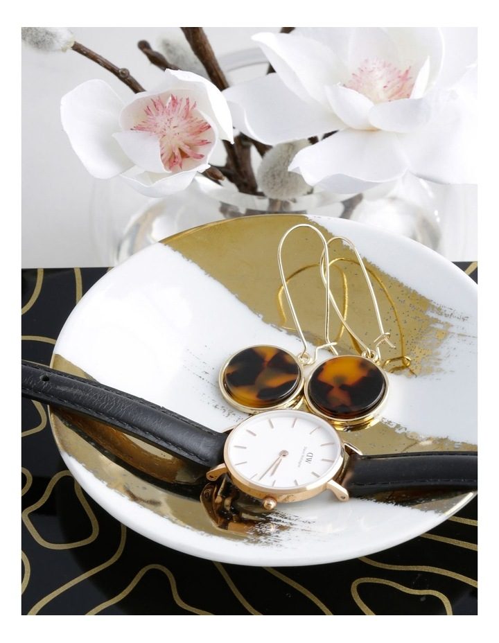 Marble Look Earring Gold Tort image 3
