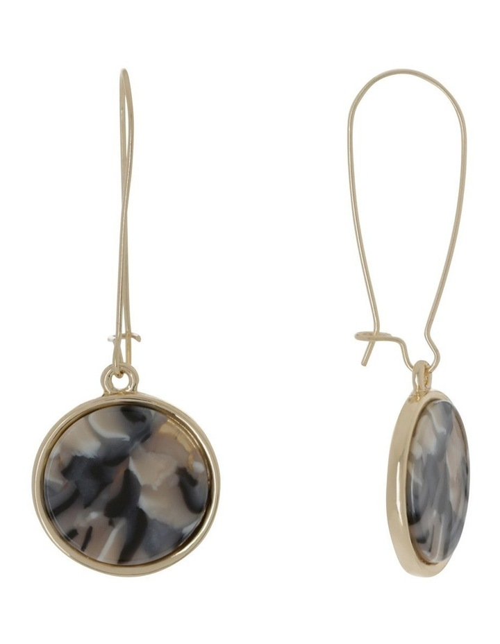 Marble Look Earring Gold Milky image 2