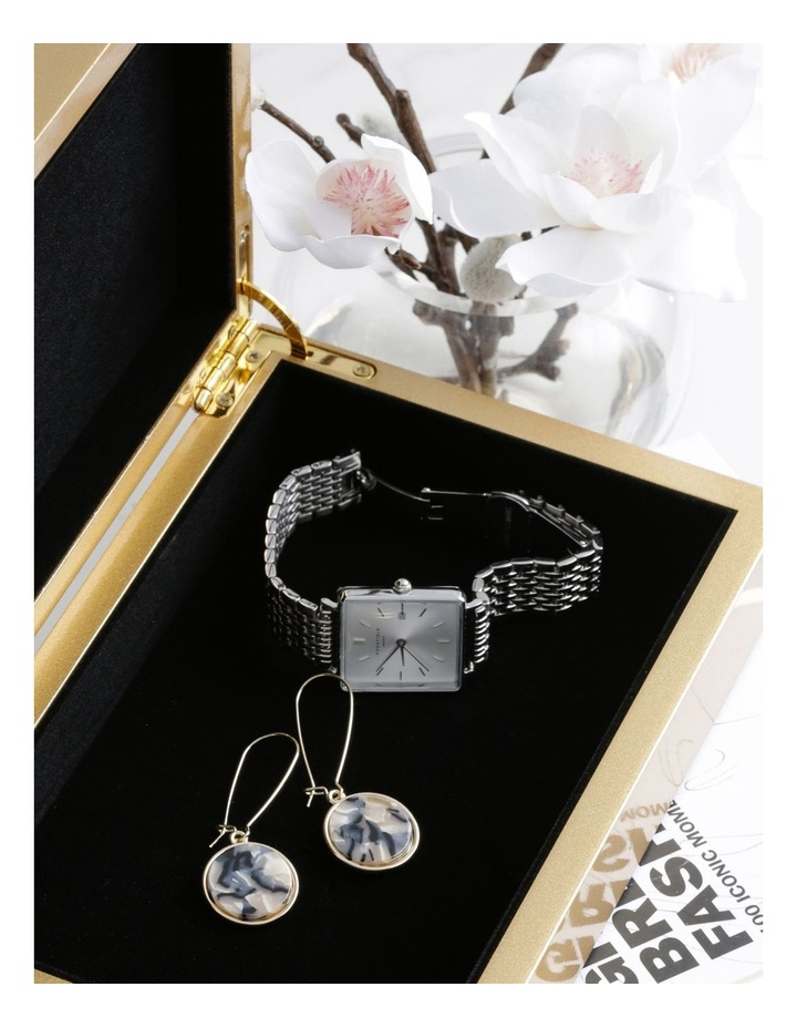 Marble Look Earring Gold Milky image 3