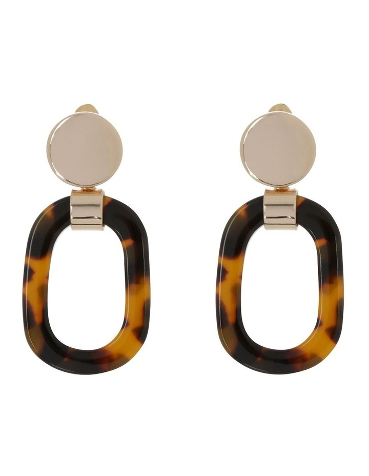 Oval Earring Gold Tort image 1