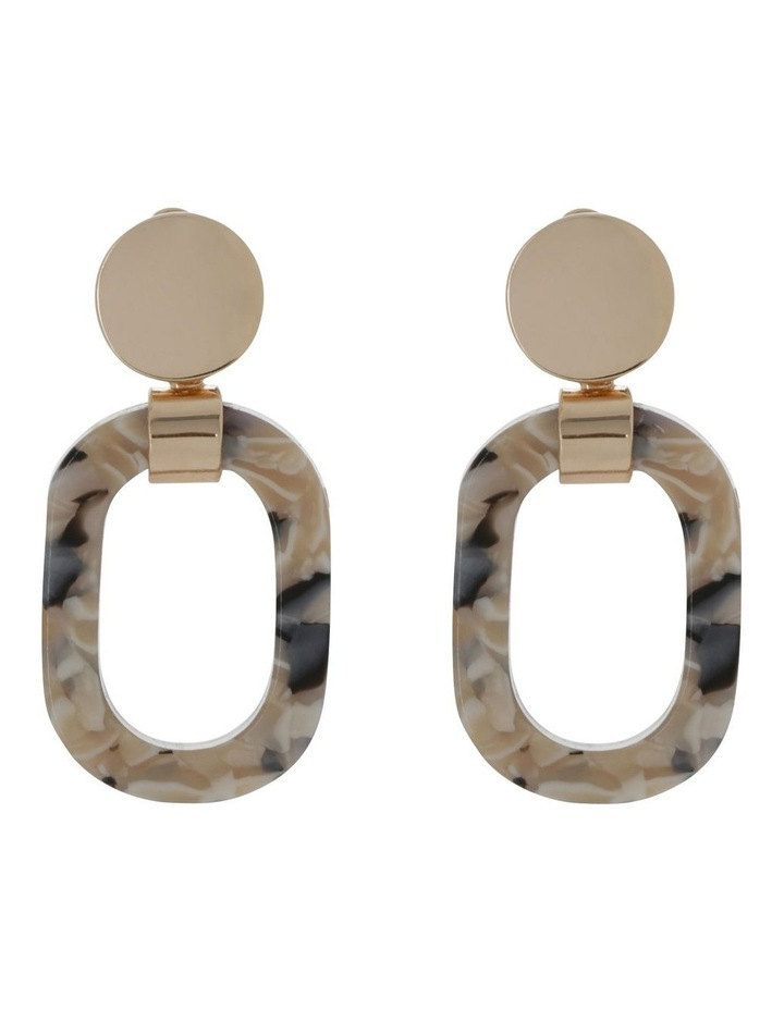 Oval Earring Blush Milky image 1