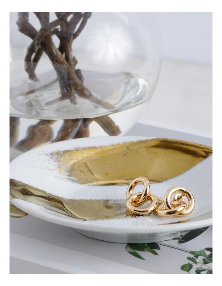 Double Loop Mini Drop Gold image 3