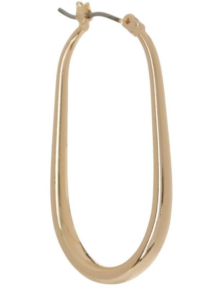 Gold Oval Hoop image 2