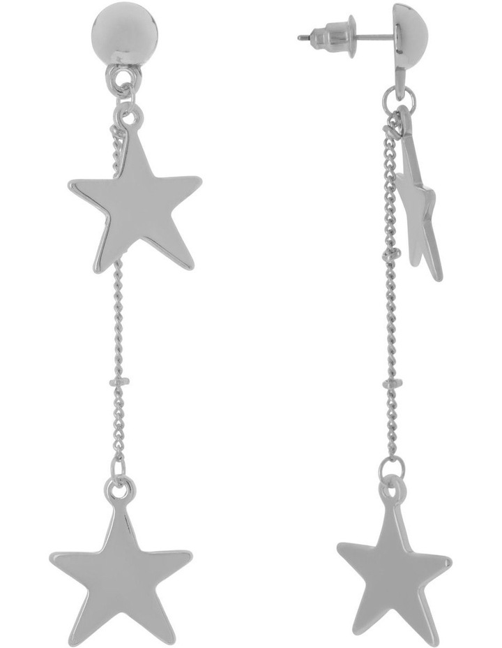 Silver Chain Star Earrings image 2