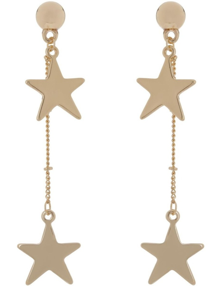 Chain Star Earrings Gold image 1